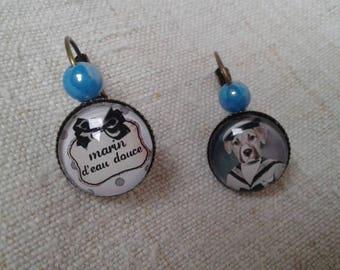 "Earrings ""fresh water sailor"""