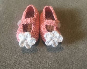 Pretty Pink Mary-Jane Booties
