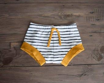 Mustard Stripe - Shorties