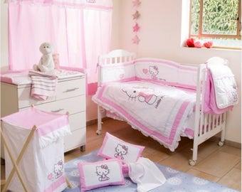 Hello Kitty Heart Crib Bedding Set