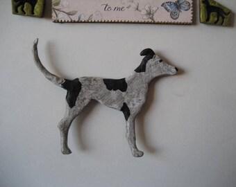 Standing, Greyhound, Fridge Magnet, Polymer,