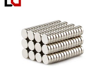 new 100pcs Disc 6x2mm N50 rare earth permanent industrial strong neodymium magnet NdFeB magnets nickle