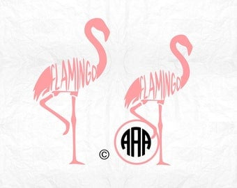 Flamingo svg, Flamingo silhouette, Flamingo monogram svg, Summer svg, Pink Flamingo svg, Cricut, Cameo, Clipart, Svg, DXF, Png, Pdf, Eps