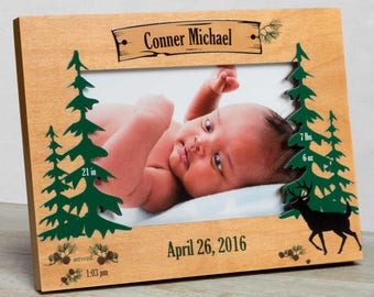 Personalized Baby Picture Frame, Baby Boy Picture Frame, New Baby Boy Frame, Baby Boy Frame, Baby Boy Birth Frame, Baby Boy Rustic Frame