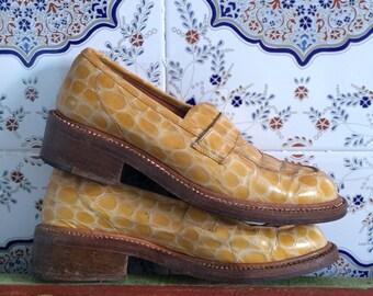 Vintage Robert Clergerie faux snake skin shoes