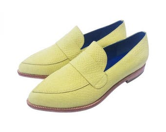 Yellow Moccasin Leather Shoe