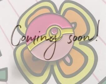 PRE-ORDER Enamel Pins! Sailormoon Sailorball Pokeball Enamel Pin Glitter Sparkle 25mm!