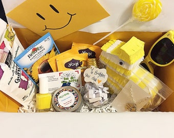 Sunshine box thinking of you gift cheer up gift when skies are grey bad day box sister gift gifts for coworkers get well soon gift happy box