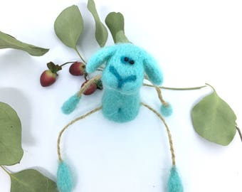 Blue Sheep,Eco Toy,Needle Felted Sheep,Cute Sheep,Wool Animal,Sheep Small Gift,Wool Sheep,Sheep Felt Toy,Mother Gift,Sheep,Little Sheep,Blue