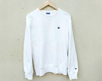 Vintage Champion Sweatshirt Embroidery small logo