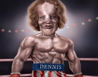 Rocky Dennis Mask Rocky Balboa Mashup Shirt S-2XL