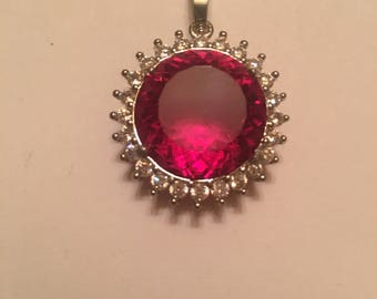 Beautiful 35ct Rubelite Tourmaline Pendent