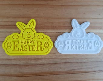 Happy Easter 01  Cookie Cutter and Stamp