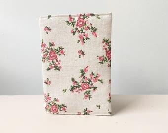 Passport holder, floral passport holder, passport cover, fabric passport holder