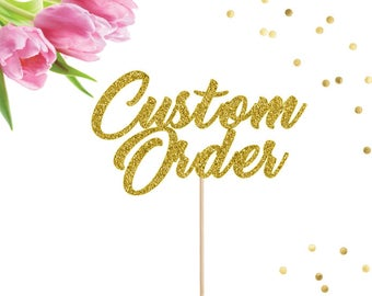 Custom Cake Topper, Wedding Cake Topper, Personalized Cake Topper, Baby Shower, Birthday Cake Topper, Custom Name Cake Topper, Name Cake Top