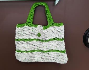 hnd made crochet beach bag