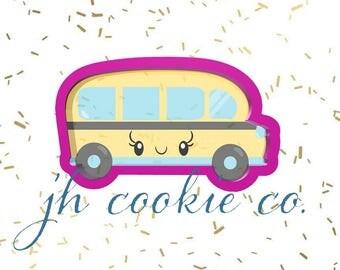 kawaii school bus cookie cutter