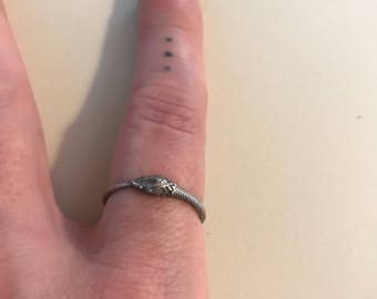 Orborous snake ring size 6