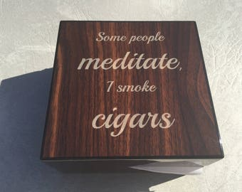 Custom engraved folding cigar ashtray