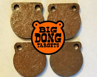 "BIG DONG TARGETS | AR500 Steel Gong Targets Shooting Sports 3"" x 3/8"" 