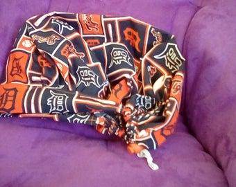 Detroit tigers Bouffant style scrub hat