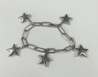 Sterling Silver Star Earrings and Bracelet