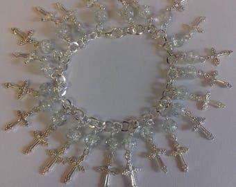 Cross charm bracelet/ spiritual bracelet