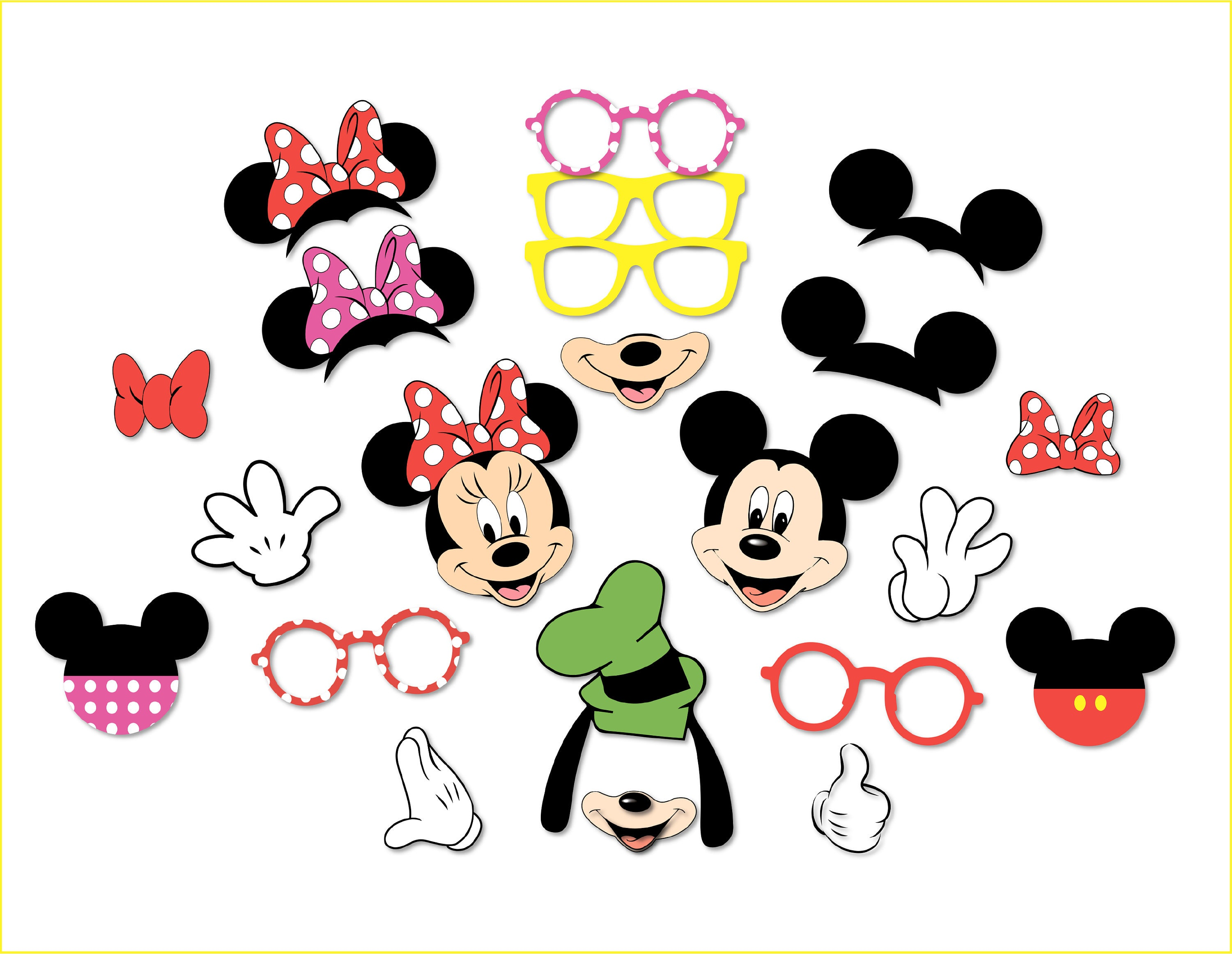 picture relating to Minnie Mouse Photo Booth Props Printable known as Minnie Mouse Mickey Mouse Photobooth Printables Minnie $ Www
