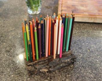 Live Edge Black Walnut Pencil Holder