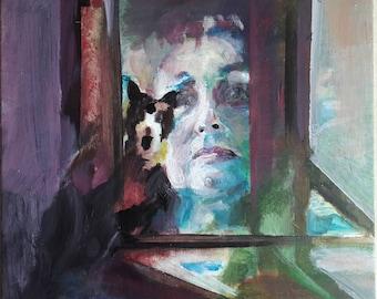 Portrait 3, acrylic on canvas panel