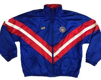 Vintage Official Sports USA Soccer Federation Men's Windbreaker Size XL