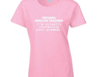 Indiana English Teacher T Shirt