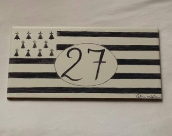 Plate House personalized flag banner on request