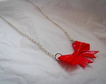 Origami Bow Necklace