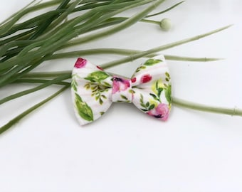 Baby Girl classic Bow Headband - Hair clips- Nylon Headbands - Infant / Toddler /  Fabric Hair Bows - bohemiam spring floral