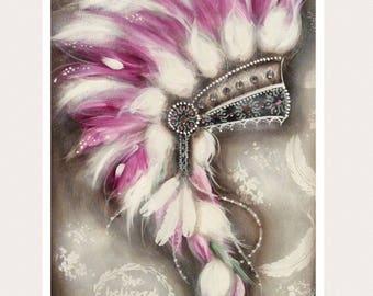 PINK head dress