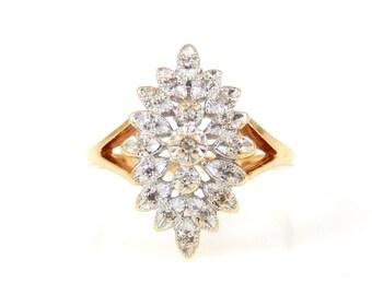10K Diamond Starburst Ring - X4215