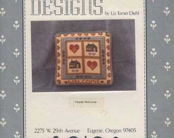 Hearty Welcome Embroidery Pattern by Liz Turner Diehl