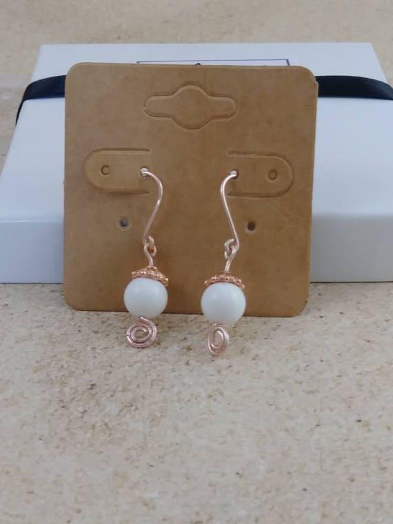 Freshwater Shell earrings,dangle earrings, drop earring, gemstone earring, crystal power, crystal earrings, crystal jewelry,