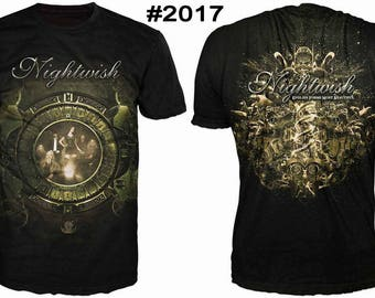 New ultramodern 3D  High Quality  Print Fans  short Sleeve t-shirt Nightwish
