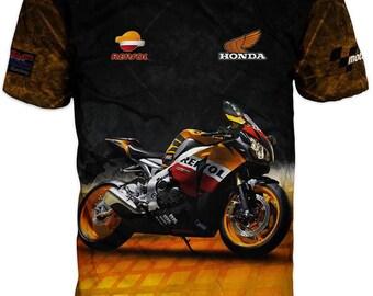 New Ultramodern 3D High Quality Motor Honda Mens  T-shirt