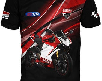 New Ultramodern 3D High Quality Motor Ducati Mens  T-shirt