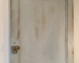 Painted salvaged door