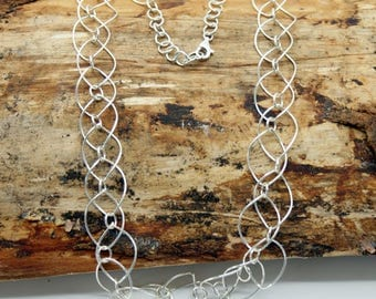 Sterling Silver Oval Links Necklace (NEP015-N)
