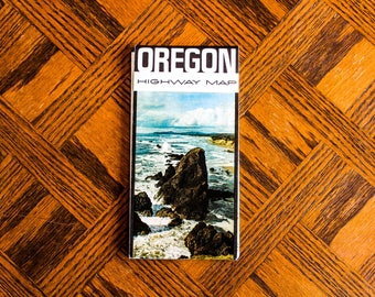 Vintage Map of Oregon 1960s