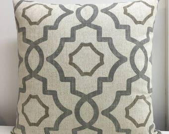 Zipper pillow covers. Gray pillow cover Euro Shams Decorative Pillow Throw pillow lumbar 20x20 22x22 24x24 26x26 Gray,Beige, Tan