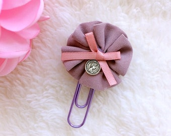 Fabric Flower  Paper Clip for Your Planners
