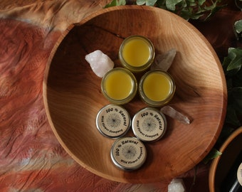 Tender Loving Salve/Balm - Lavender, Rose, Calendula, Yarrow Beeswax Salve - No Essential Oils - Glass Jar