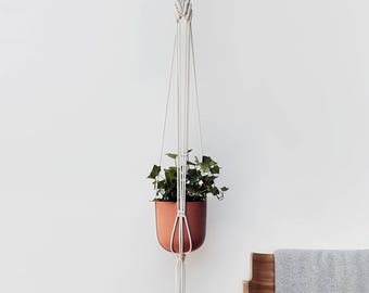 Macrame Plant Hanger //122cm:48 inches //100% Natural Cotton Cord // Hanging Planter // Plant Holder // Pot hanger // Indoor Hanging Planter
