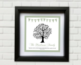 Personalised Family Tree Framed Picture Design - Customise Six Design Styles and Various Sizes available here!